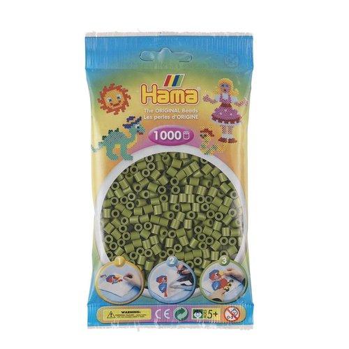 Hama Hama midi strijkkralen olijfgroen nr 84 1000 stuks