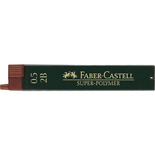 Faber Castell potloodstiftjes Faber Castell Super-Polymer 0,5mm 2B