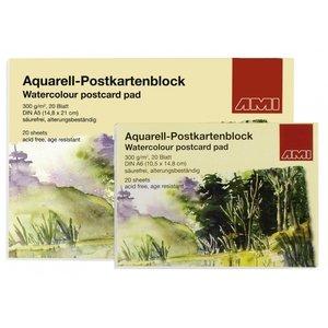 Ami Aquarel Ansichtkaarten 300 gram 20 vel