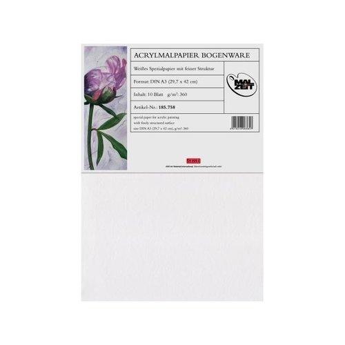 Acryl papier A4 360 gram 10 vellen