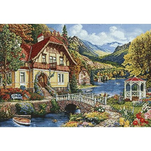 Wizardi Diamond Painting pakket Quiet Place WD2488