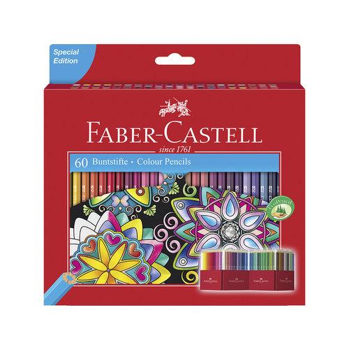 Faber Castell kleurpotlood Faber-Castell Castle zeskantig karton etui met 60 stuks