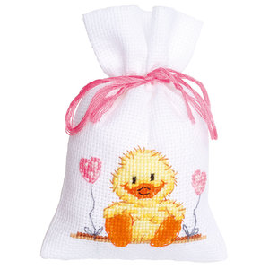 Vervaco Vervaco kruidenzakje geboorte eend roze 0149277