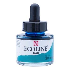 Ecoline Ecoline Vloeibare Waterverf Flacon 30 ml Blauwgroen 640