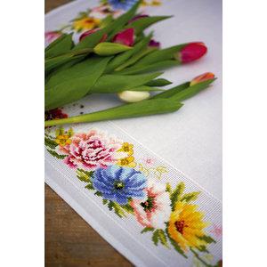 Vervaco Vervaco Tafelkleed Kleurige Bloemen 0183789