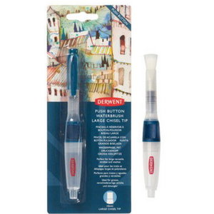 Derwent Derwent Push Button Waterbrush Chisel