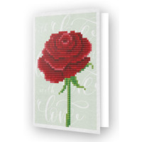 Diamond Painting Kaart Love Rose