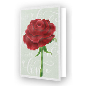 Diamond Dotz Diamond Painting Kaart Love Rose
