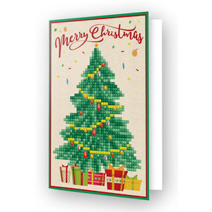 Diamond Dotz Diamond Painting Kerstkaart Merry Christmas Tree