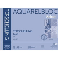 Schut Terschelling Aquarelblok Glad 30x40cm 300 gram 20 vel