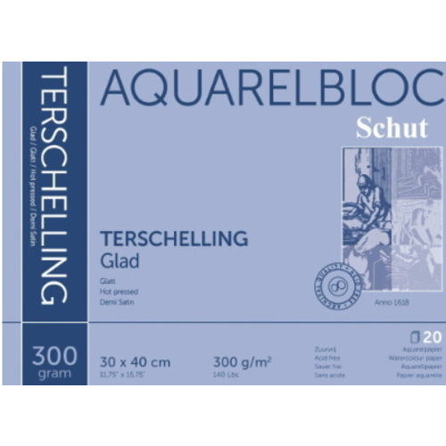 Schut   Schut Terschelling Aquarelblok Glad 30x40cm 300 gram 20 vel