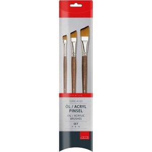 Ami A165 Plat schuin Penselen Set voor olie en acryl