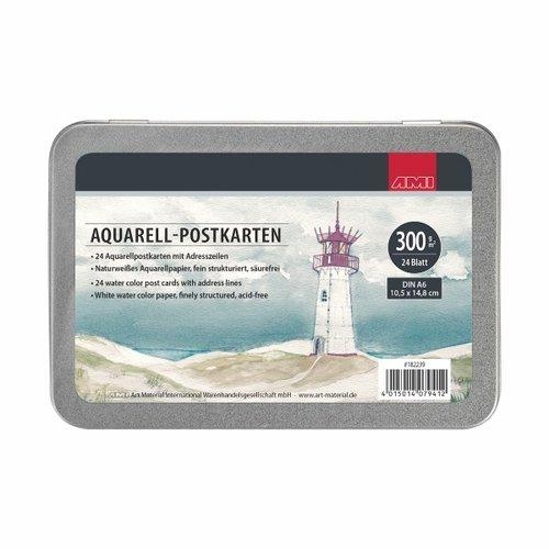Ami Aquarel Postkaarten In Blik