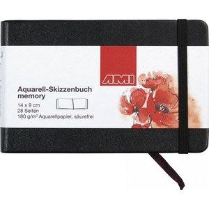 Ami Ami Aquarelboek Memory 180 gram 14 x 9 cm