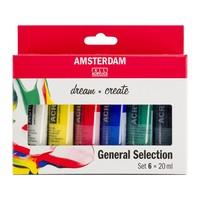 Amsterdam Acryl Standaard set 6 x 20 ml