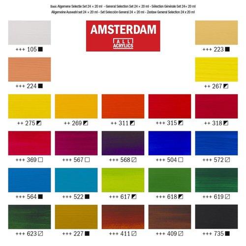 Amsterdam Amsterdam Acrylverf Staandard set 24 x 20 ml