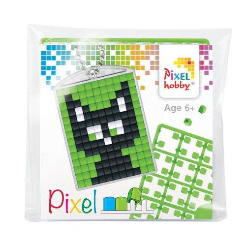 PixelHobby Pixelhobby Medaillon Startset Zwarte Kat 23037