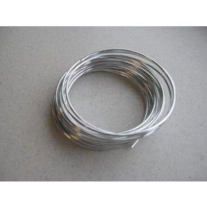 Aluminiumdraad zilverkleur 1,5 mm 6 meter