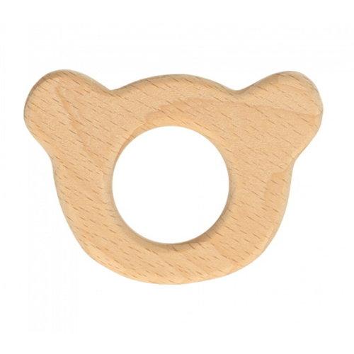 Houten Berenhoofd Ring 6,5 x 4.5 cm