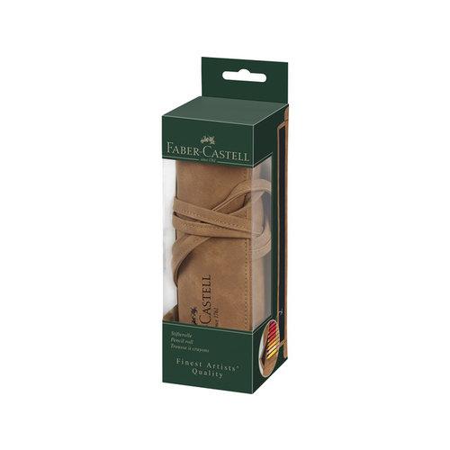 Faber Castell Roletui Faber Castell kunstleer bruin capaciteit 45 Potloden