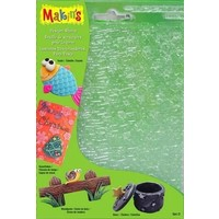 Makins Clay Klei structuurvel set D 4 vel 17,5 x 11,5 cm
