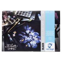 Zwart Aquarel papierblok A4 360 gram 12 vel