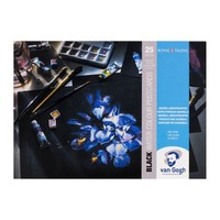 Van Gogh Aquarel Postkaarten Zwart 360 gram 25 vel