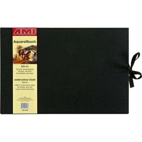 Ami Ami Aquarelboek A4 dwars 180 gram 40 vellen