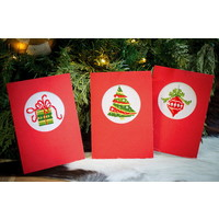 Vervaco Borduurkaarten Kerst 3 stuks 0145622