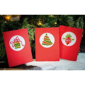 Vervaco Vervaco Borduurkaarten Kerst 3 stuks 0145622