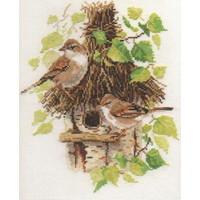 Alisa Borduurpakket Mussen met Vogelhuisje 1-23