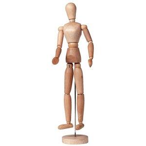 Ledenpop vrouw 40 cm blank hout