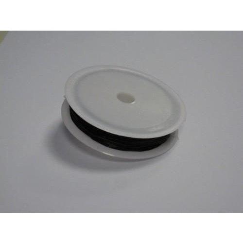Stretch koord zwart 0,8 mm 8 meter