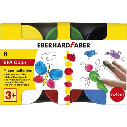 Vingerverf Eberhard Faber 6 x 40 ml in karton