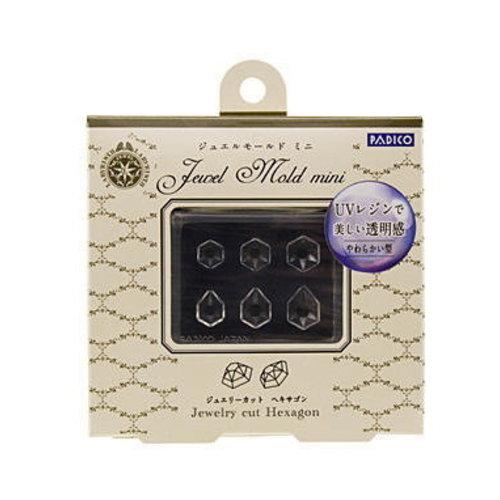 Jewel Mold Mini Jewelry Cut Hexagon