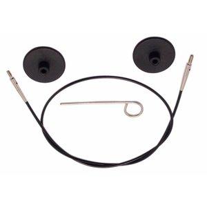 Knitpro KnitPro Kabel voor 150 cm zwart met zilverkleurige connectore