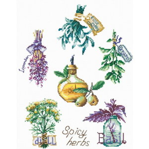 Andriana Andriana borduurpakket Spicy Herbs P-46