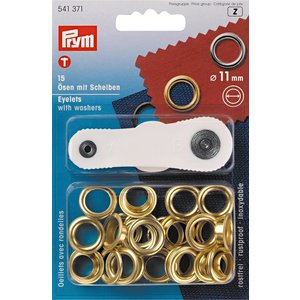 Prym Prym Ringen met Schijven 11 mm Goud