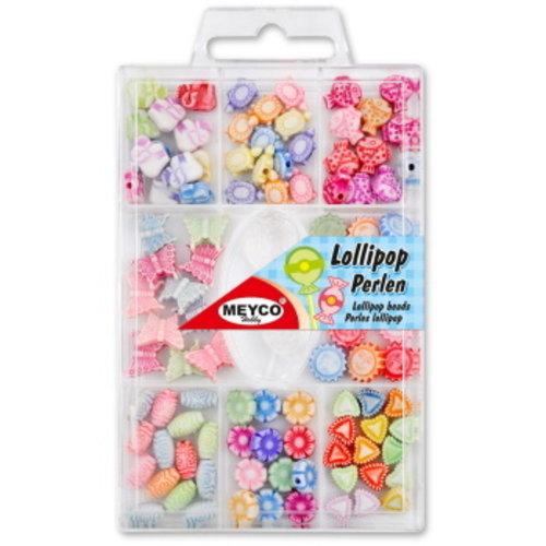 Meyco Lollipop kralenset met koord 100 stuks