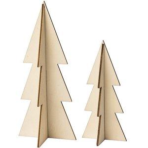 Rico Design Houten Kerstboom 2 stuks 3D