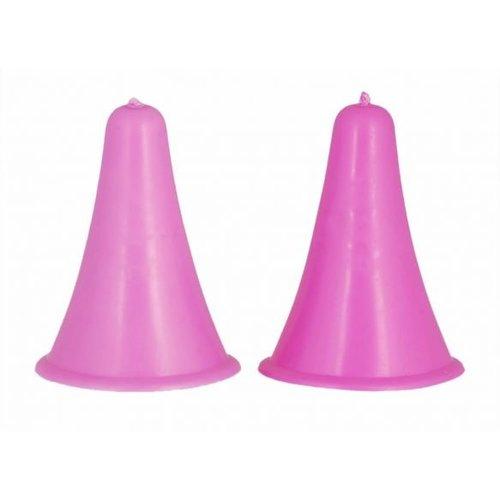 Knitpro Puntenbeschermers groot roze voor 4.5  - 10.0 mm