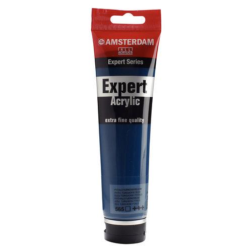 Amsterdam Amsterdam Acrylverf Expert Tube 150 ml Phtaloturkooisblauw 565