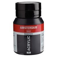 Talens Amsterdam acrylverf 500 ml Lampenzwart 702