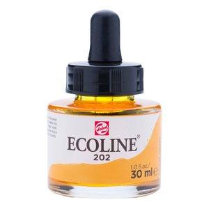 Ecoline Ecoline Vloeibare Waterverf Flacon 30 ml Donkergeel 202