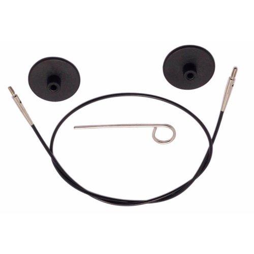 Knitpro KnitPro Kabel voor 100 cm zwart met zilverkleurige connectore