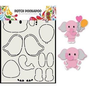 Dutch Doobadoo Dutch Doobadoo Card Art Olifant A5 470.713.795 (06-20)