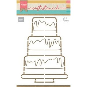 Marianne Design Marianne D Craft Stencil Party cake by Marleen PS8057 210x149mm (04-20)