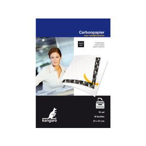 Kangaro Carbonpapier Kangaro A4 21x31cm 10 vel zwart