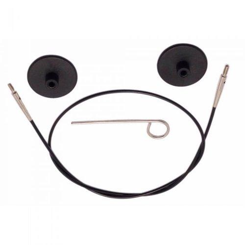 Knitpro KnitPro Kabel voor 50 cm zwart met zilverkleurige connectoren