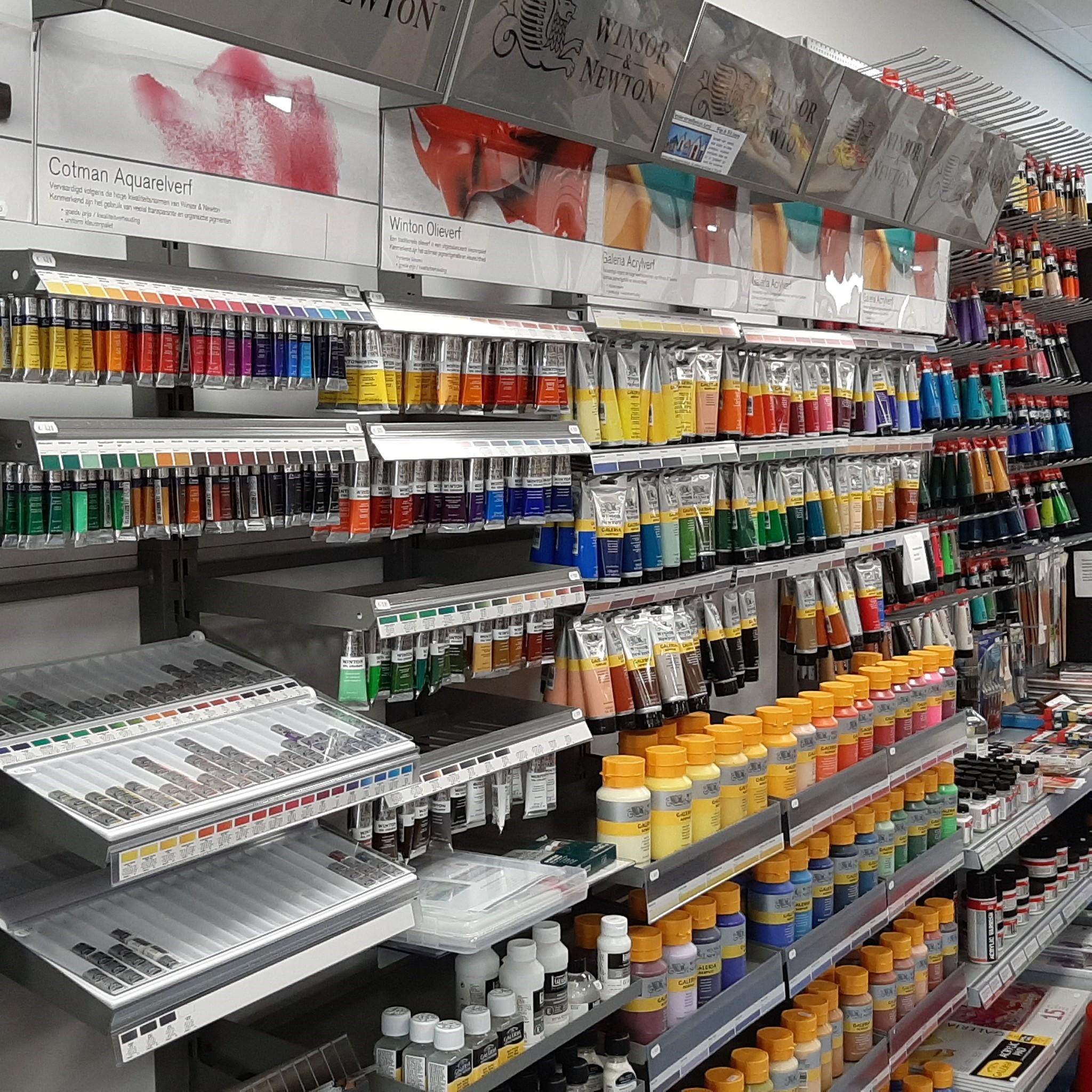 Binnenkant kunstenaarswinkel Assen
